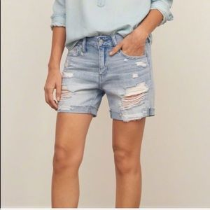 Abercrombie & Fitch • Distressed Jean Boy Shorts